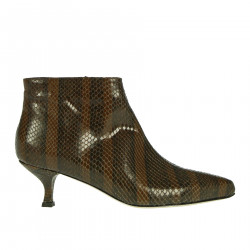 BROWN PITON BOOTS