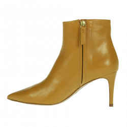 MUSTARD LEATHER ANKLE BOOT