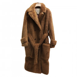 BROWN COAT IN ECO FUR
