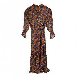 LONG VIOLET DRESS WITH FANTASY