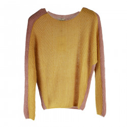 OCRA YELLOW AND PINK PULLOVER