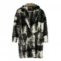 WHITE AND BLACK ECO FUR