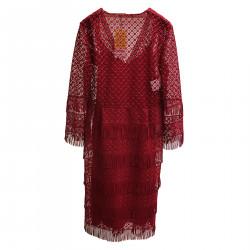 FRINGES RED DRESS