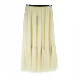 SKIRT IN TULLE CREAM