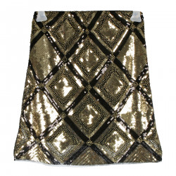 GOLD SKIRT IN PAILETTES