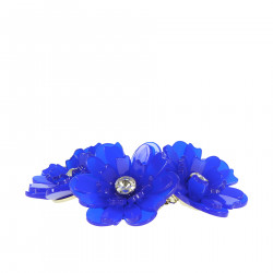 NECKLACE WITH BLUE FLOWERS