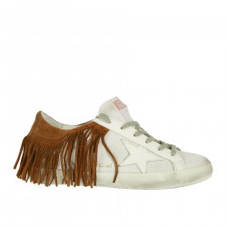SUPERSTAR WHITE SNEAKER WITH FRINGES