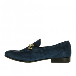 SUEDE BLUE MOCCASIN