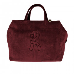 MEDIUM BORDEAUX SHOPPING BAG