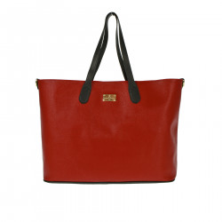 RED AND BLACK LARGE SHOPPING BAG