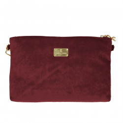 BORDEAUX POCHETTE IN VELVET