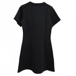 BLACK DRESS WITH WRITING