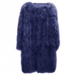 LONG BLUE FUR COAT