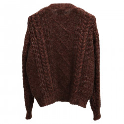 BROWN SWEATER WITH LUREX
