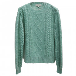 GREEN WATER SWEATER WITH LUREX