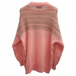 PINK SWEATER WITH LUREX