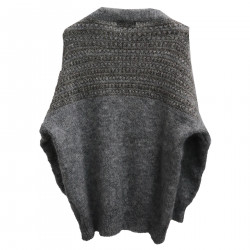GREY SWEATER WITH LUREX