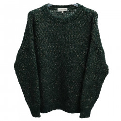 GREEN SWEATER WITH LUREX