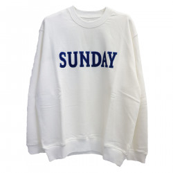 WHITE SWEATER WITH WRITTING
