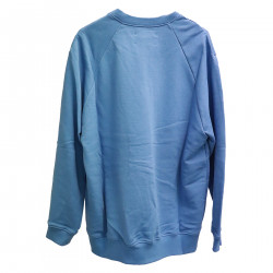 SKY BLUE SWEATER WITH WRITING