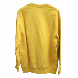 YELLOW SWEATER WITH WRITING