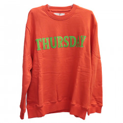 RED CORAL SWEATSHIRT WITH WRITING