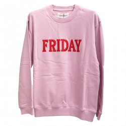 PINK SWEATER WITH WRITING