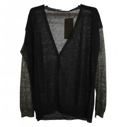 BLACK AND GOLD CARDIGAN IN SLEEVES