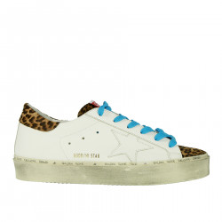 WHITE AND ANIMALIER SNEAKERS