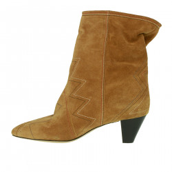 SUEDE BEIGE ANKLE BOOT