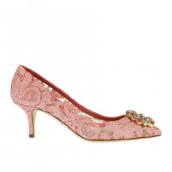 PINK DECOLLETE IN LACE WITH STRASS