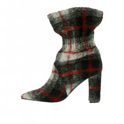 GREY AND BLACK CHECKED BOOT