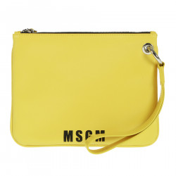 YELLOW LEATHER POCHETTE