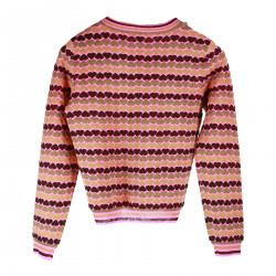 MULTICOLOR LITTLE HEARTS FANTASY PULLOVER