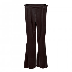 PANTALONE MARRONE SCURO IN VELLUTO