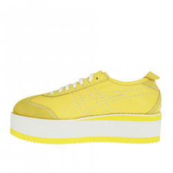 YELLOW AND WHITE PLATFORM SNEAKER