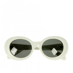 WHITE AND BLACK SUN GLASSES