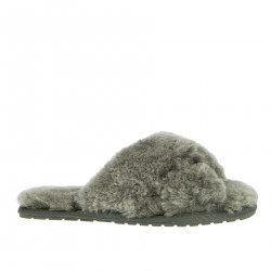 CHARCOAL FUR SLIPPER
