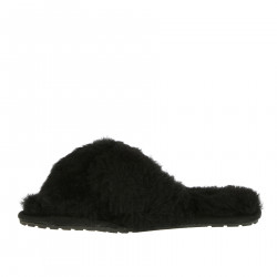 BLACK FUR SLIPPER