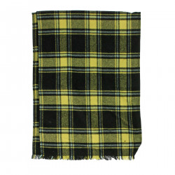 CHECKED VIRGIN WOOL SCARF