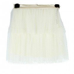 GONNA BIANCO PANNA IN TULLE