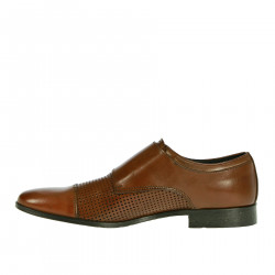 MONK SHOE BROWN LEATHER