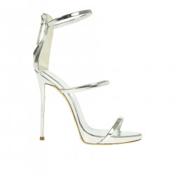 SILVER LEATHER SANDAL