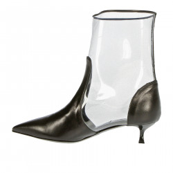 BLACK AND TRANSPARENT BOOT