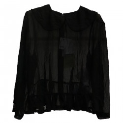 BLACK BLOUSE WITH BALZE