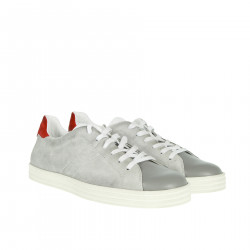 GREY AND RED SNEAKER
