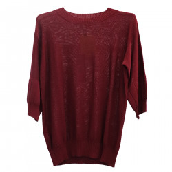 BORDEAUX RED SWEATER