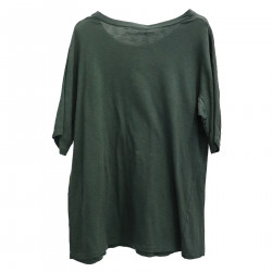 MILITARY GREEN T SHIRT WITH FANTASY