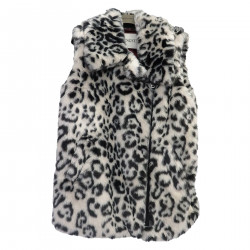 ANIMALIER VEST IN ECO FUR