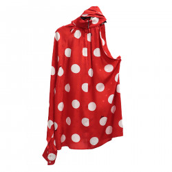 WHITE AND RED BLOUSE A POIS